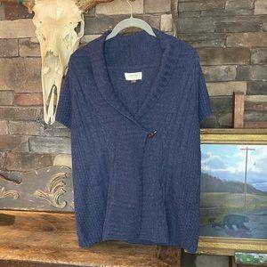 Sonoma Dark Navy Blue Short-sleeve Sweater Top